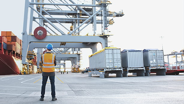 Person managing port operations