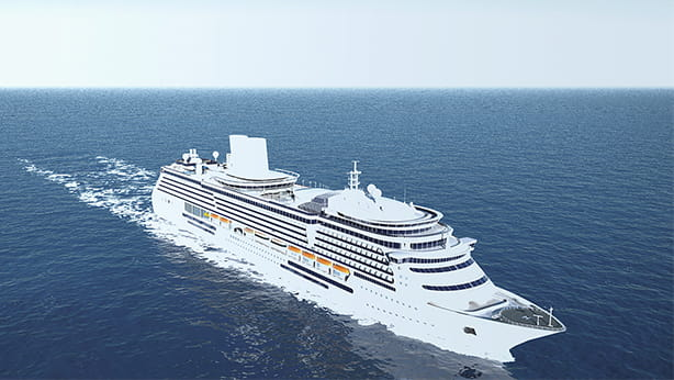 Fincantieri ship on water with PI System