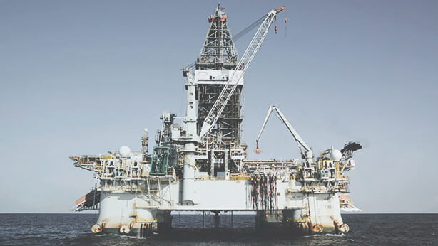 oil rig on water